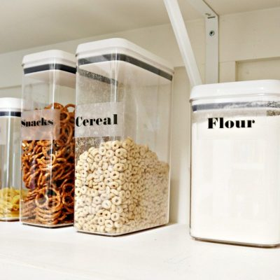 Organize your pantry with these clear containers