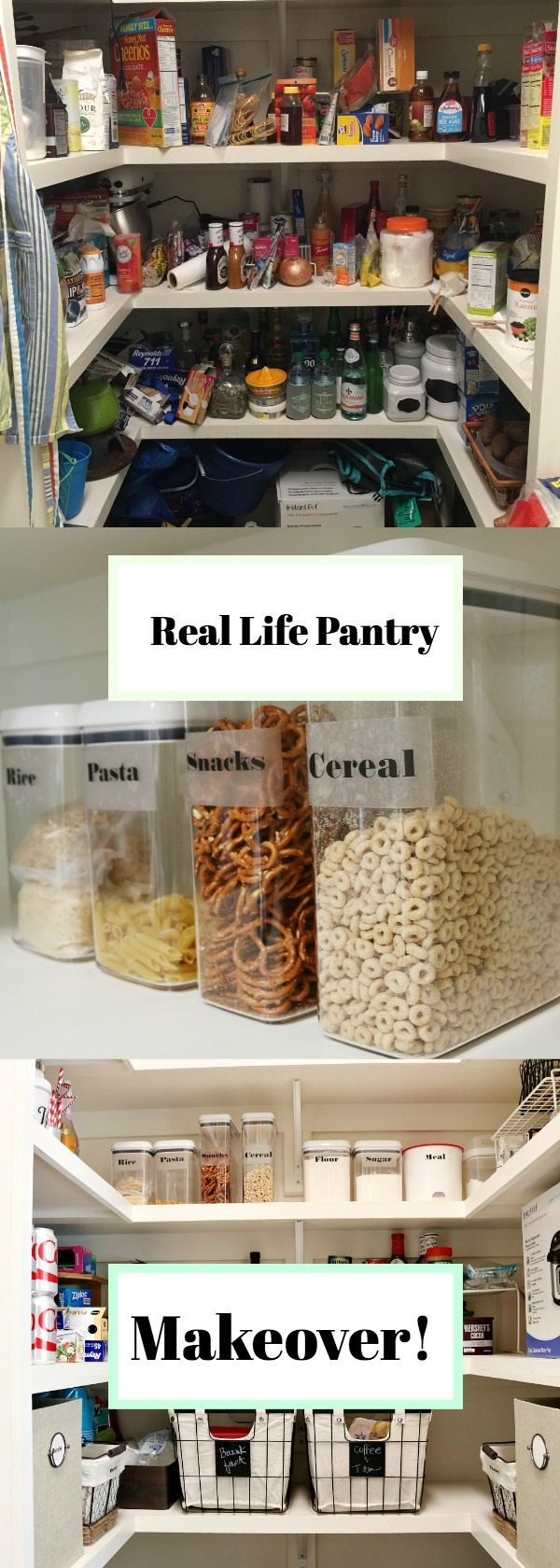 Real life pantry makeover