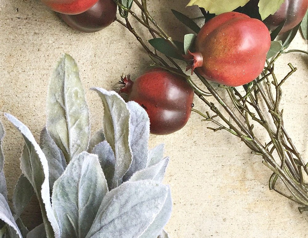 Two ingredient idea for a fall wreath