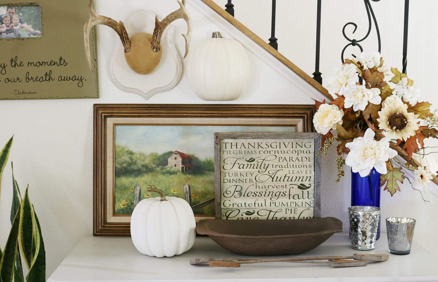 fall entry decor