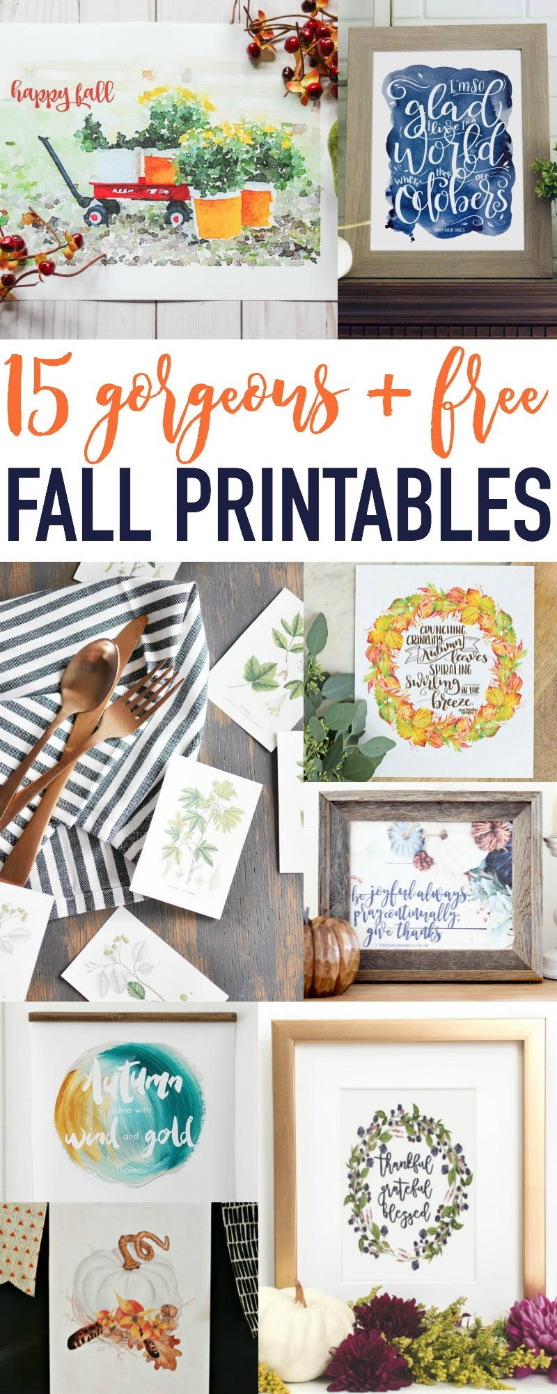 15 Gorgeous Free Fall Printables