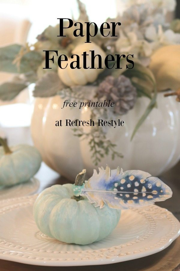Free Printable Paper Feathers