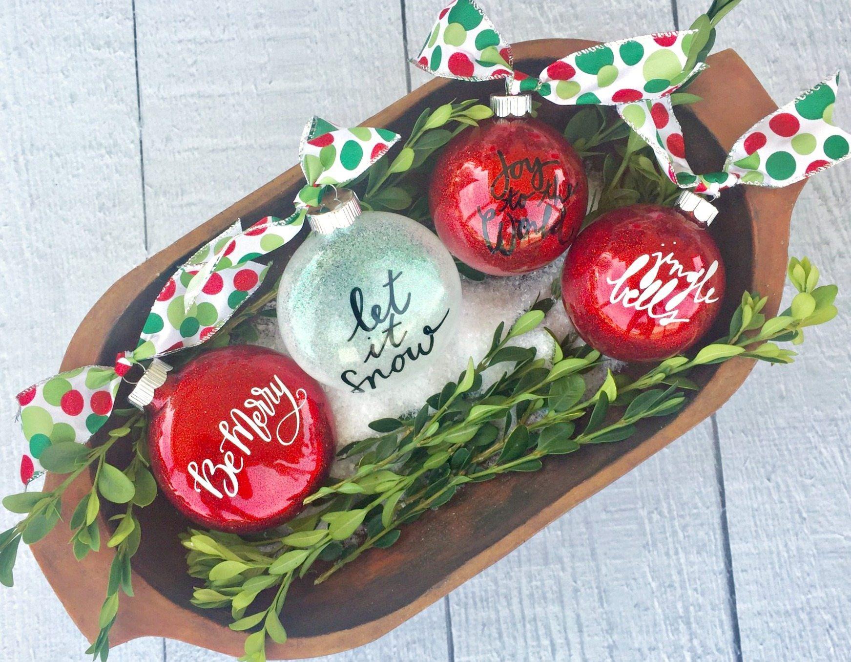 Diy Glitter Christmas Ornaments Refresh Restyle