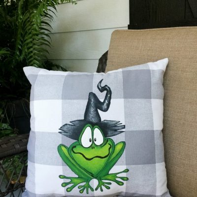 DIY Hand Painted Halloween Pillow