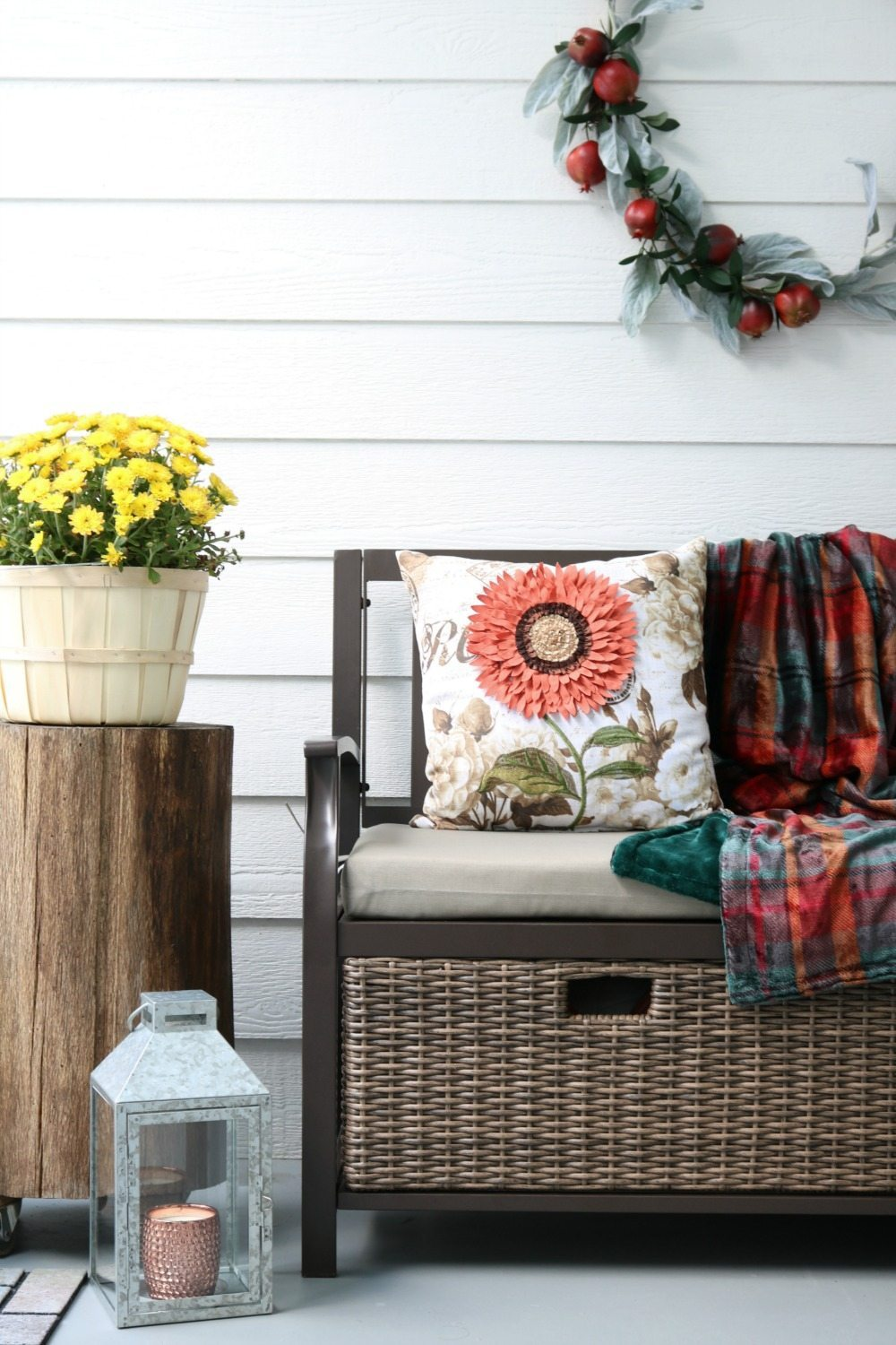 Outdoor storage bench is perfect for the entry