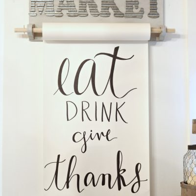 eat drink and give thanks paper roll holder