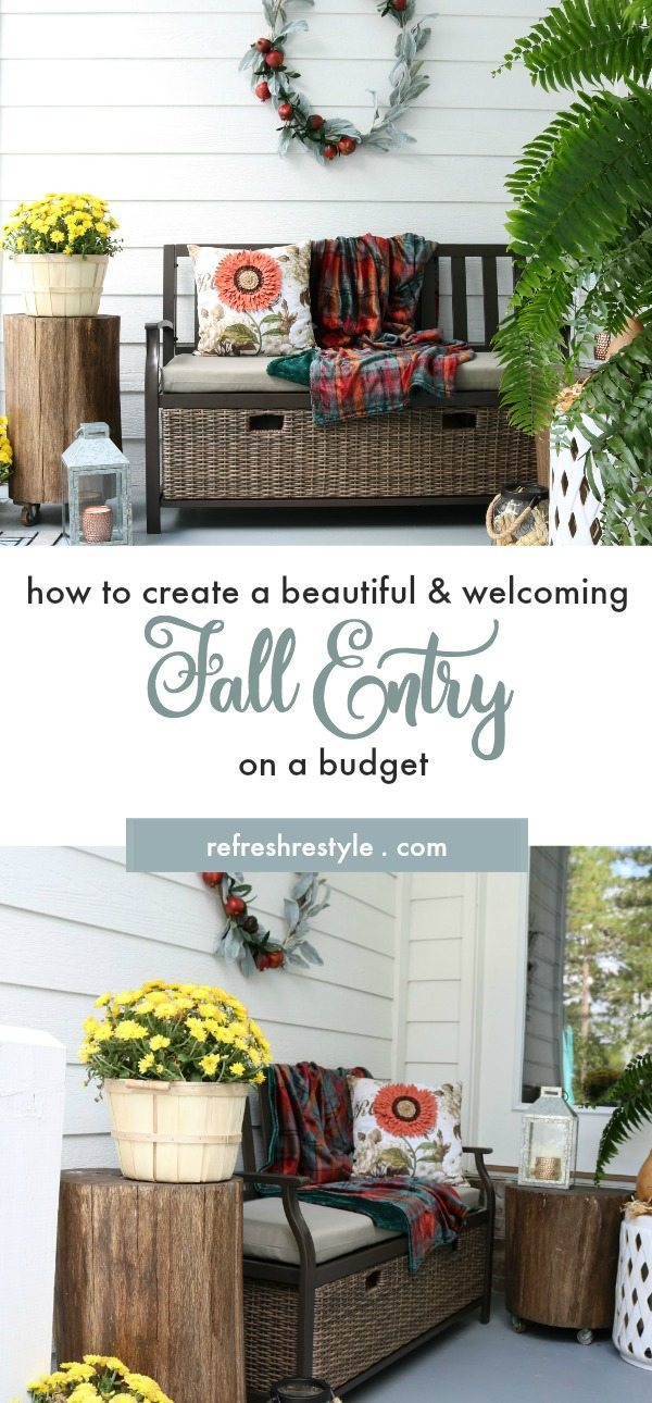 how to create a beautiful fall entry on a budget