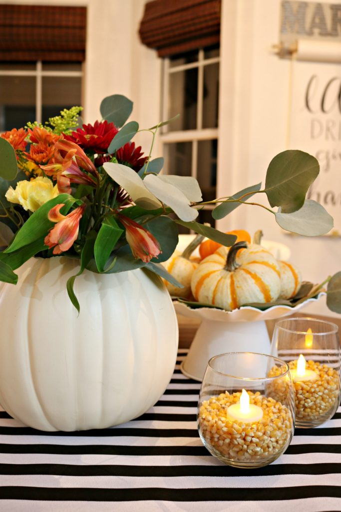 10 Minute centerpiece for Thanksgiving