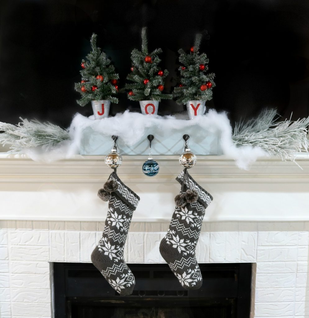 diy stocking hanger for christmas stockings