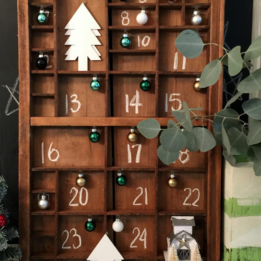 Farmhouse advent calendar countdown