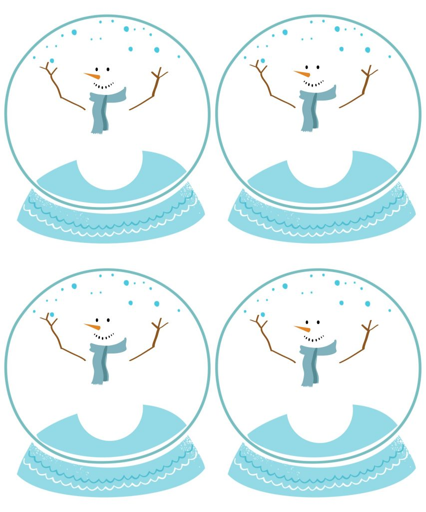 Frosty gift tag free printable