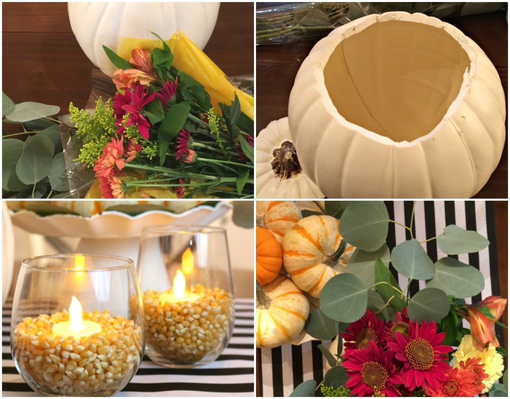 Just a few items to make a centerpiece from the grocery store