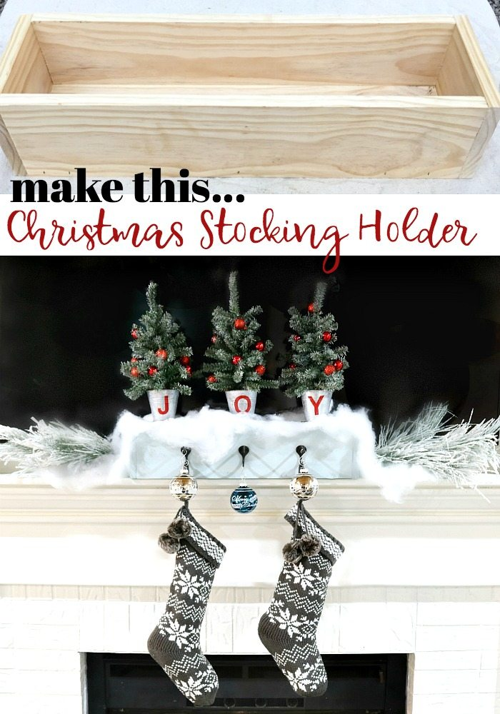 Make this Christmas stocking holder