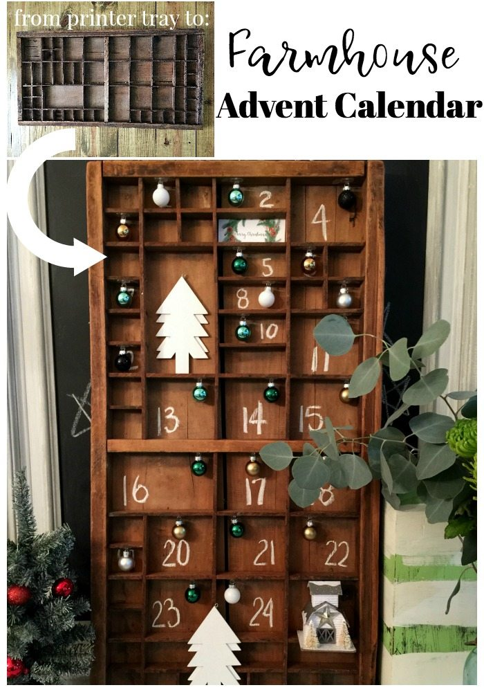 Make this easy printer tray advent calendar