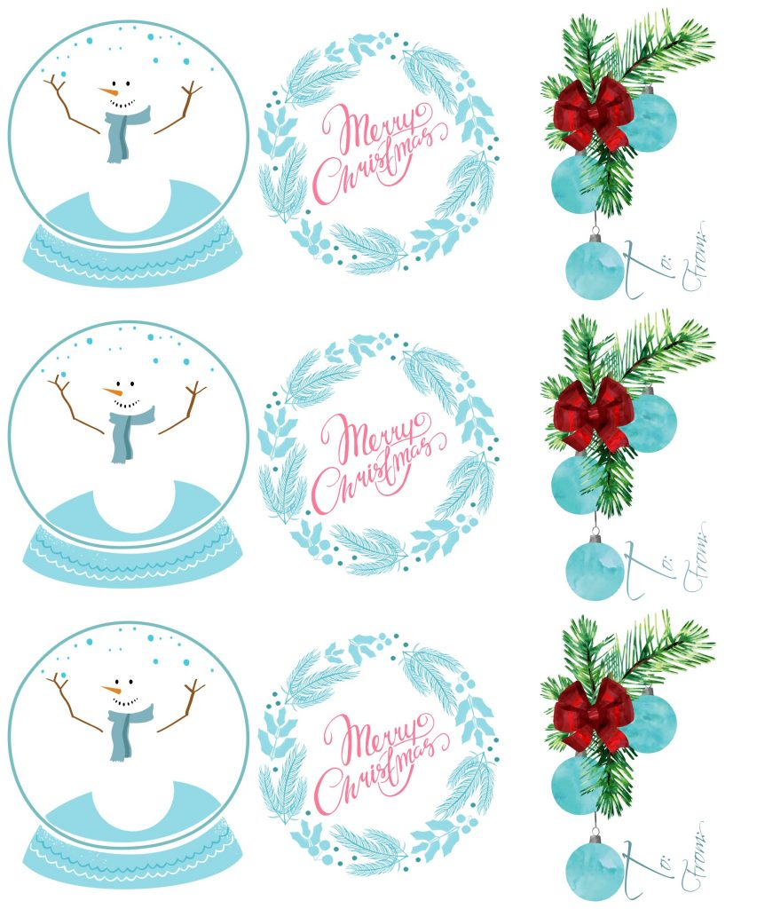 Merry Christmas small gift tags