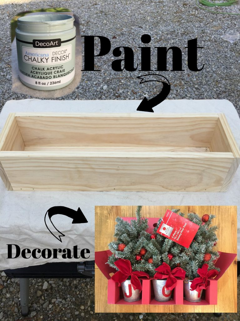 Paint and decorate your Christmas stocking hanger