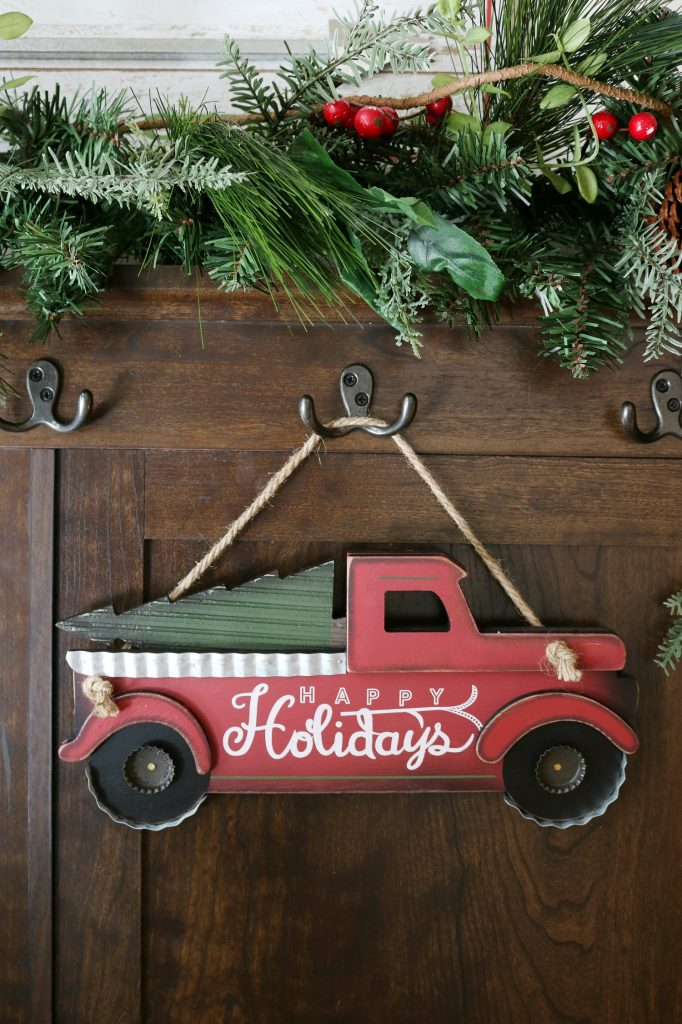 Pick up seasonal decor for the entry