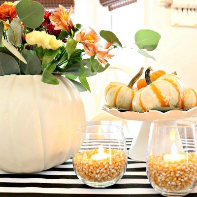 Quick and affordable centerpiece idea for Thanksgiving