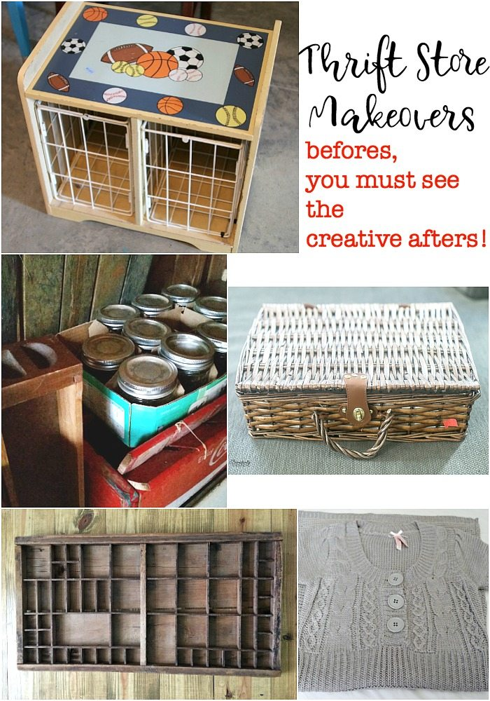Thrift store makeovers must see the afters