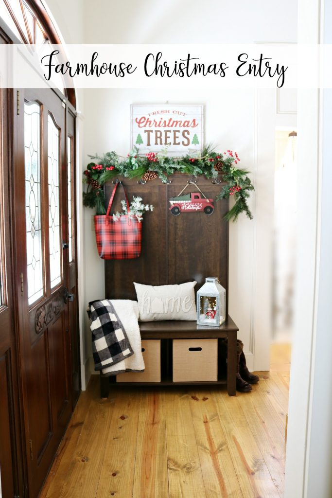Welcoming Farmhouse Christmas Entry