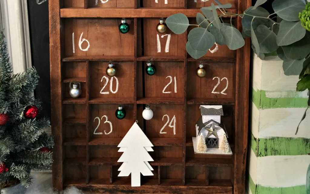 custom advent calendar with a printer tray