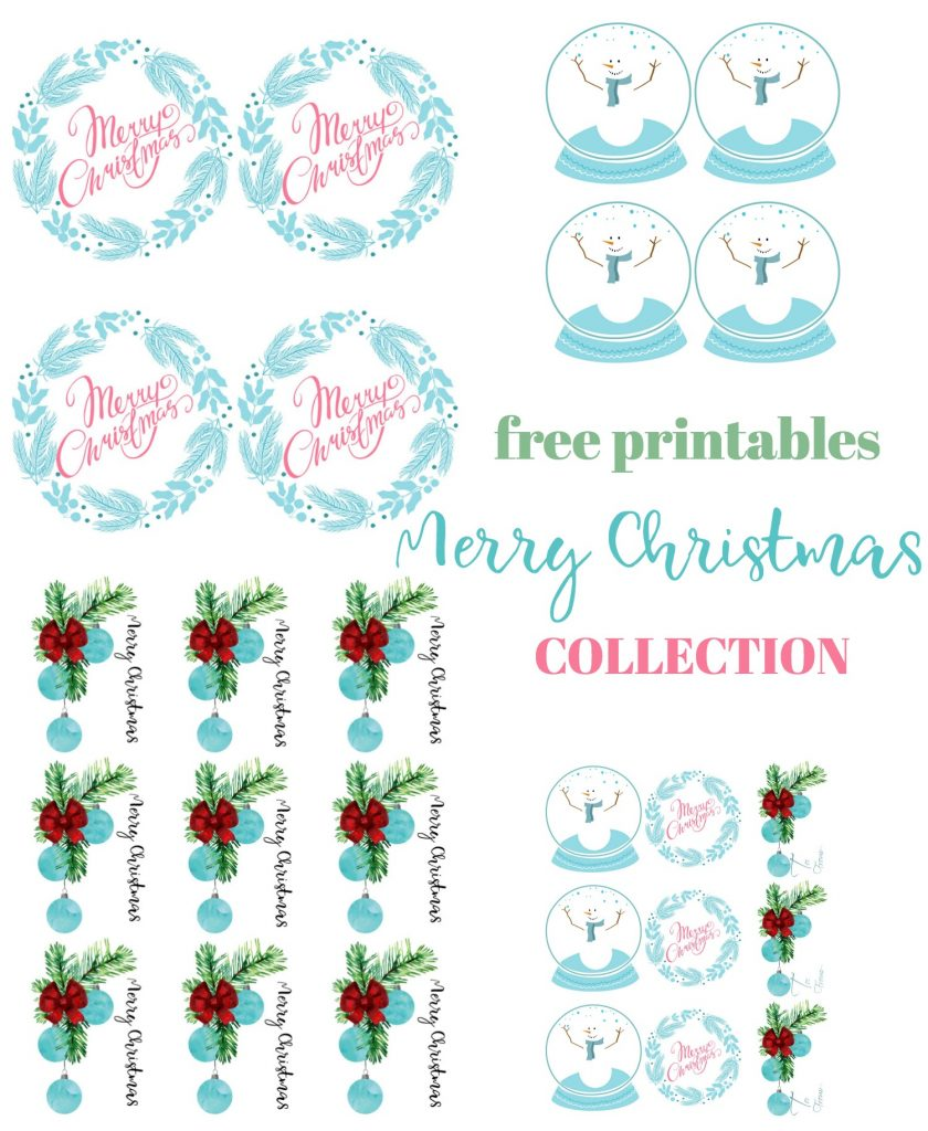 free printable gift tags Merry Christmas collection