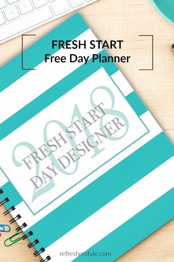 2018 Free Fresh Start Day Planner