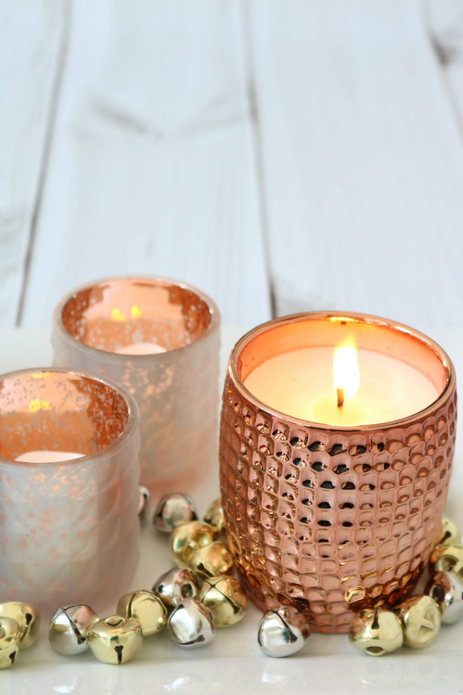 Copper candle and candle holder