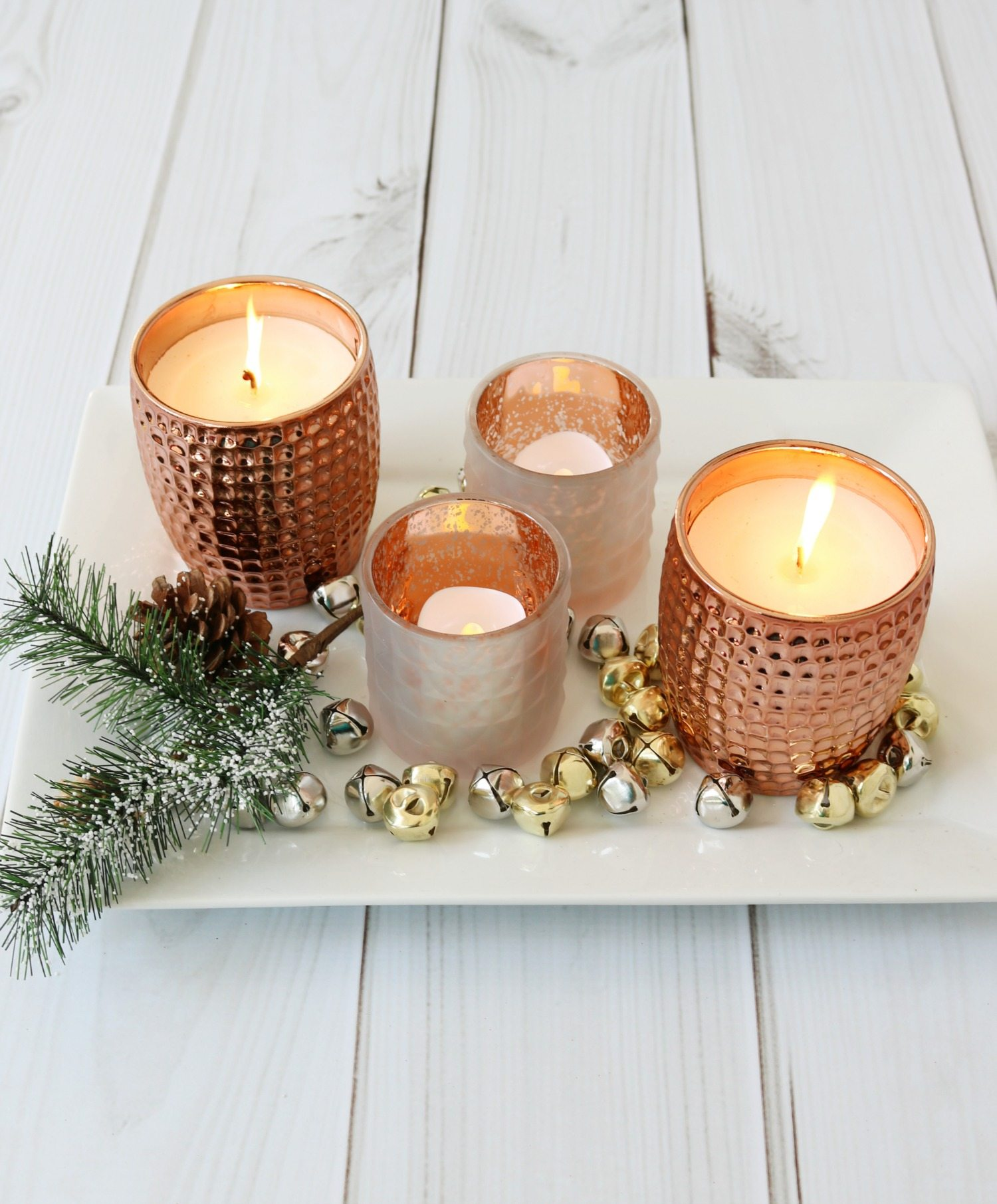 Copper candles and candle holders