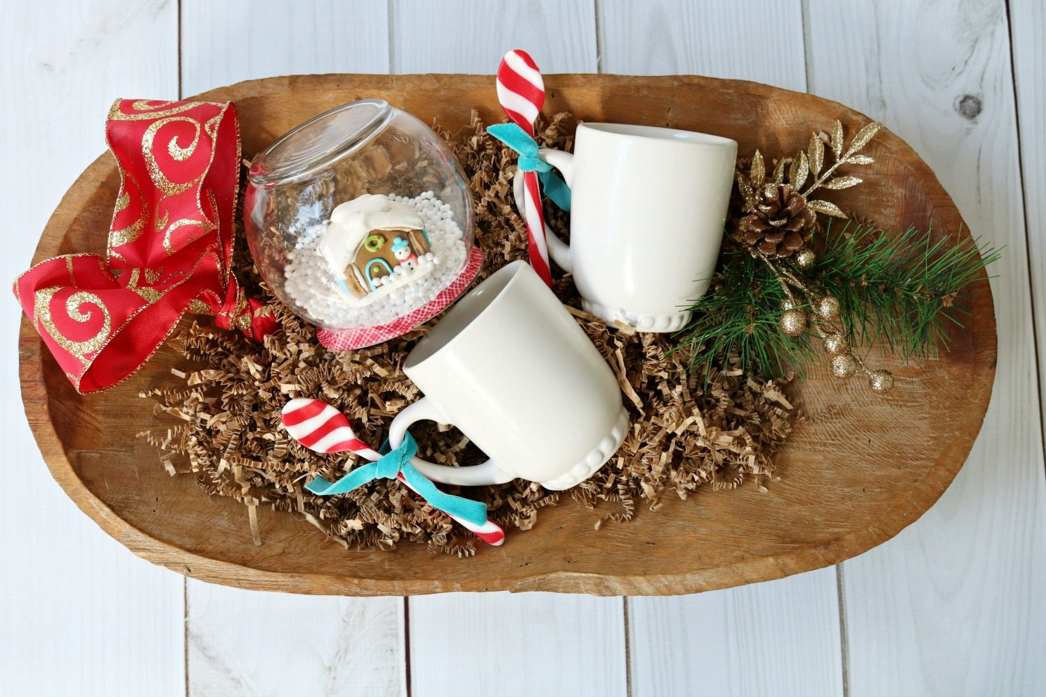 Dough bowl filled gift idea