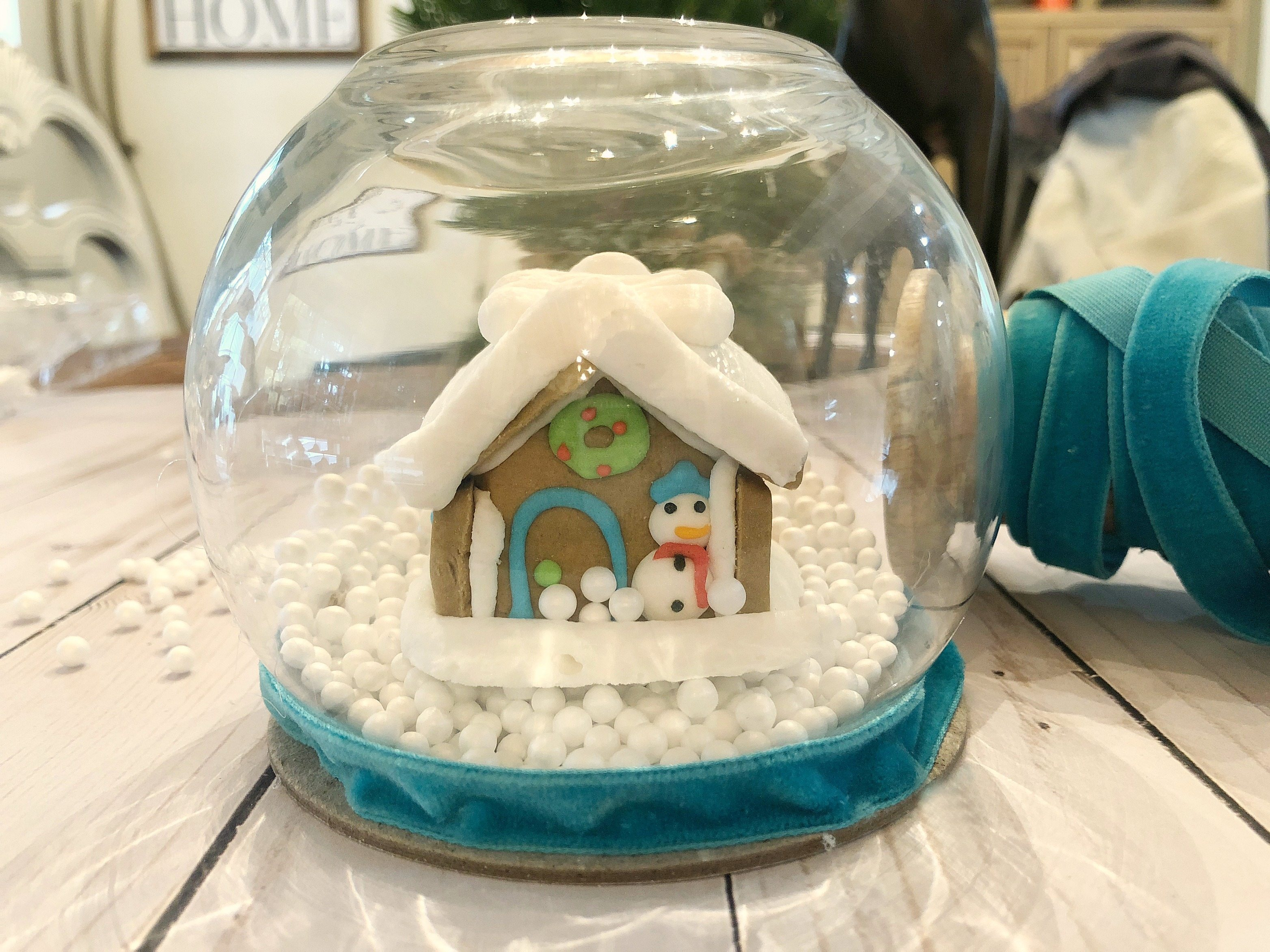 Gingerbread House Snow Globe   Refresh Restyle