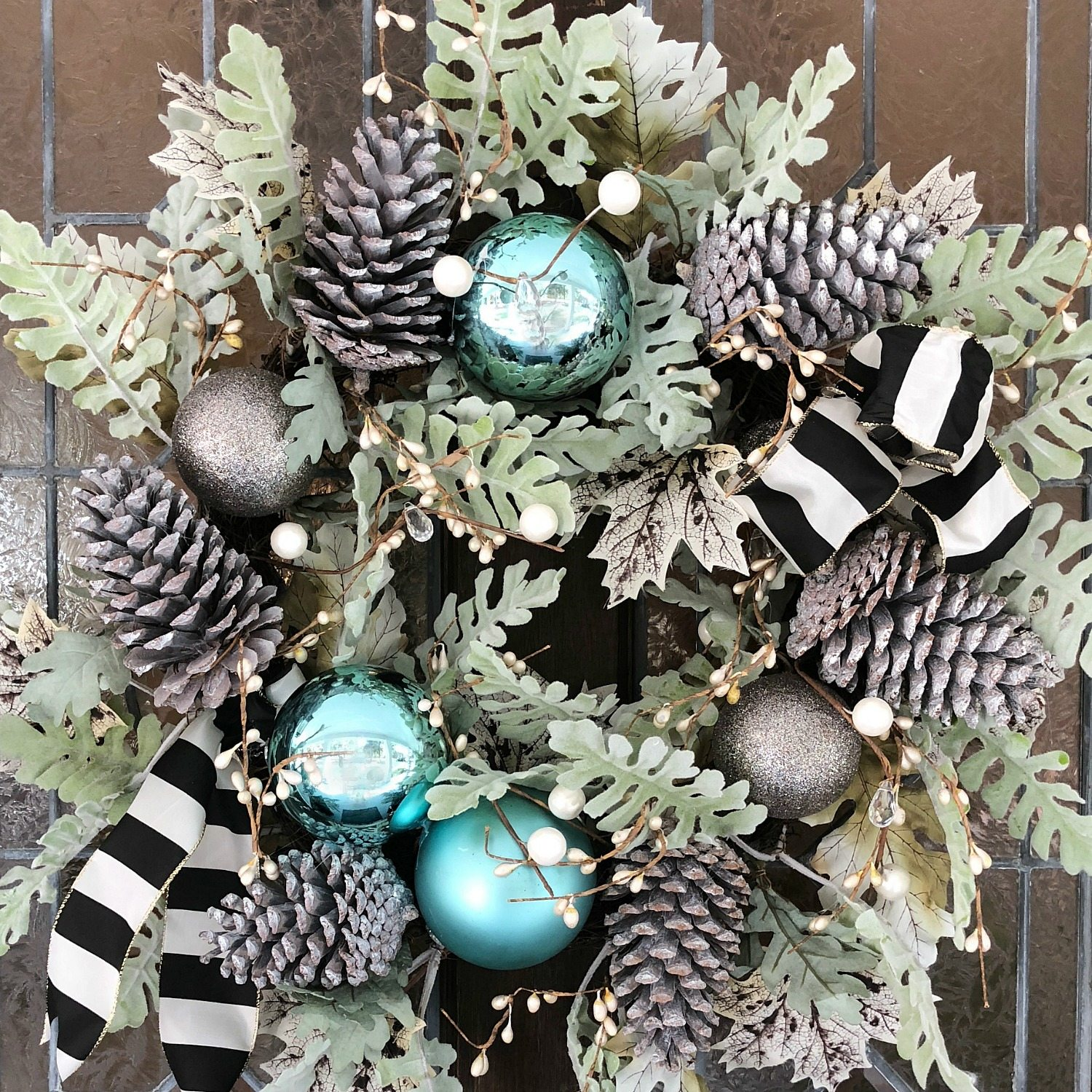 How to go from Fall to Christmas wreath