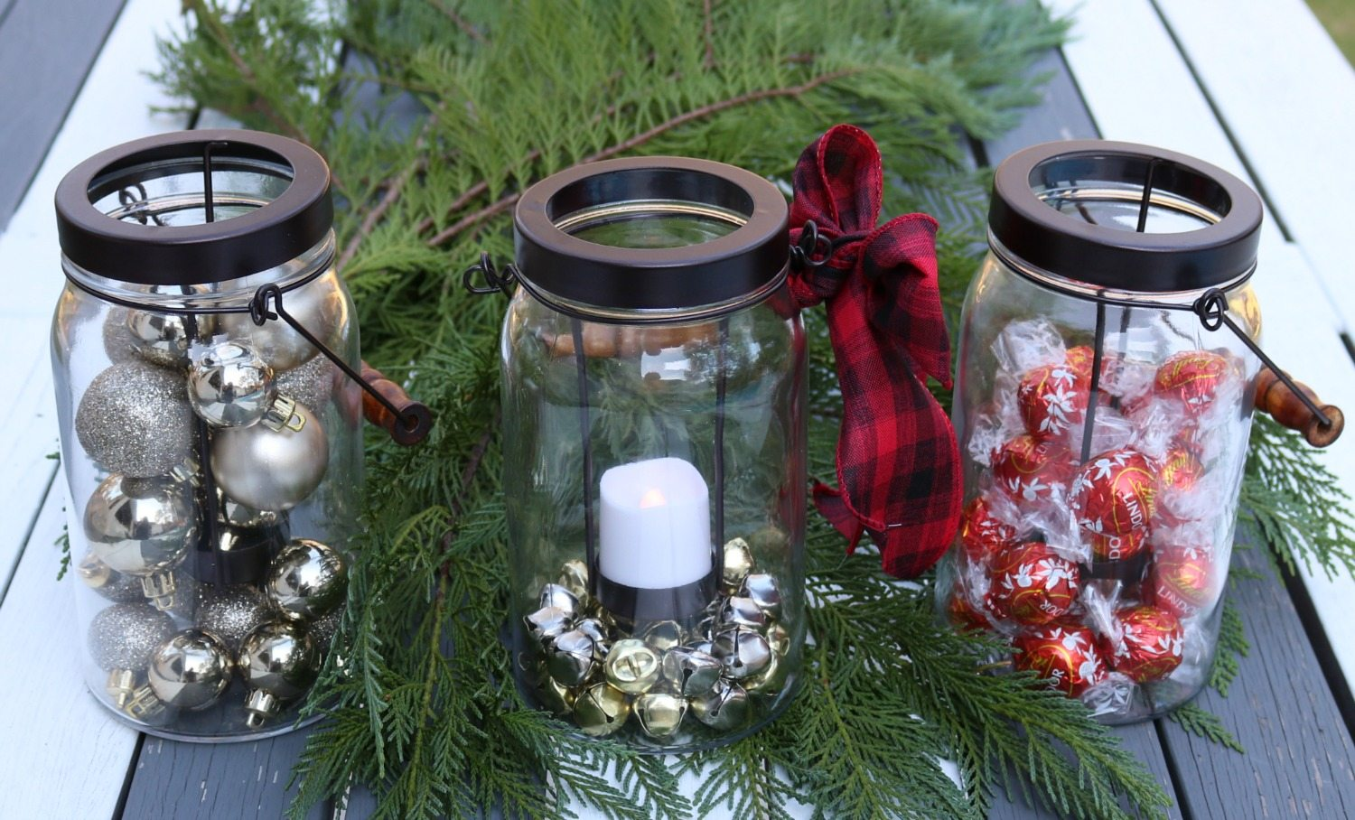 Mason jar style candle holders are perfect gifts