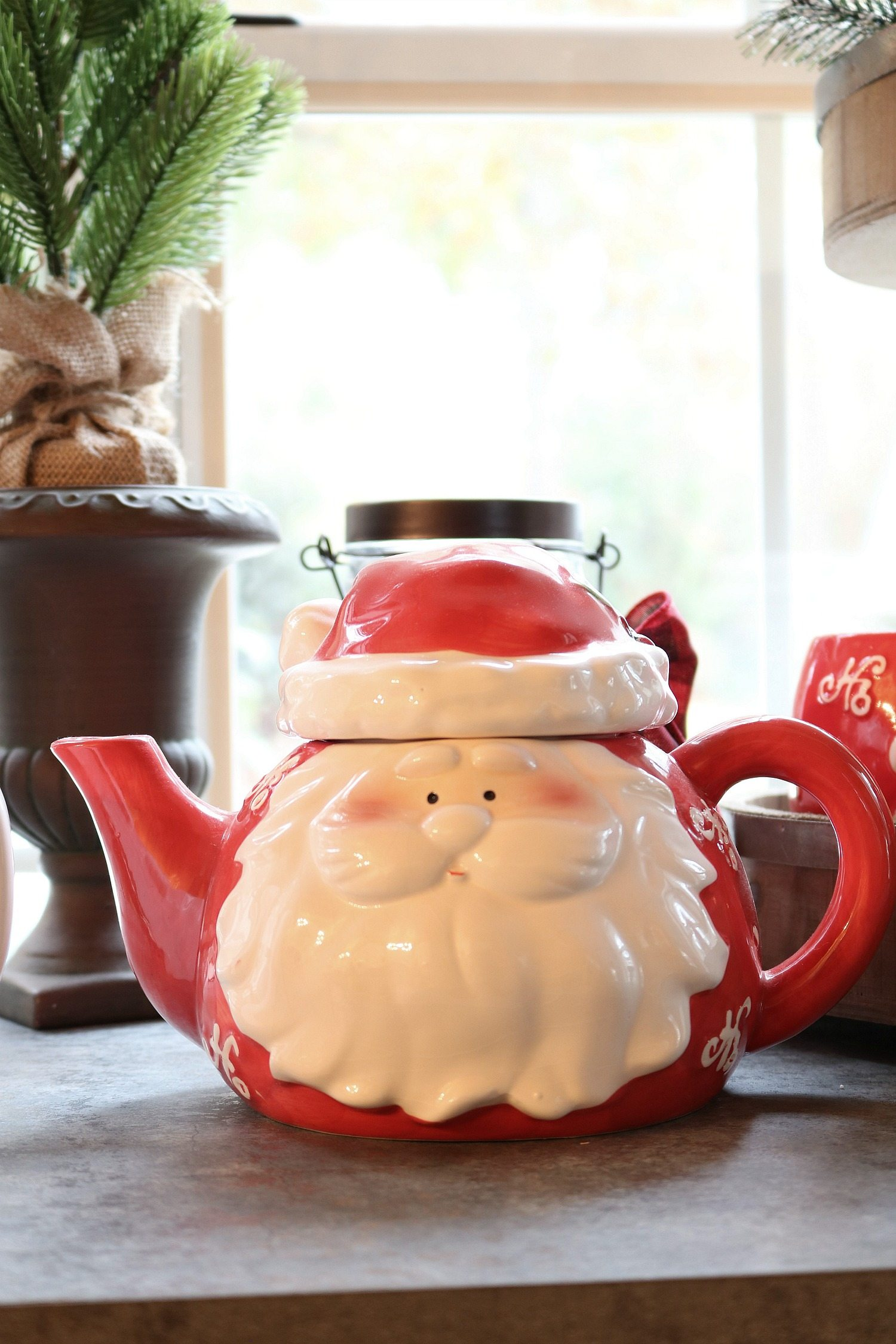 Santa teapot for hot chocolate