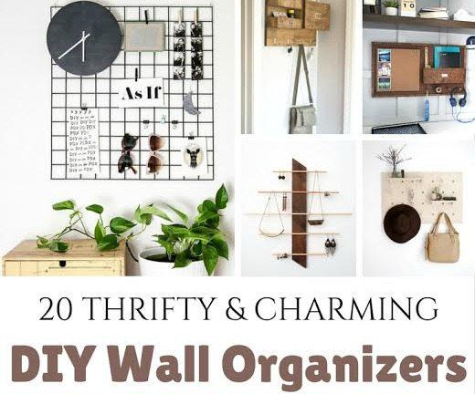 Ways to create DIY Wall Organizers