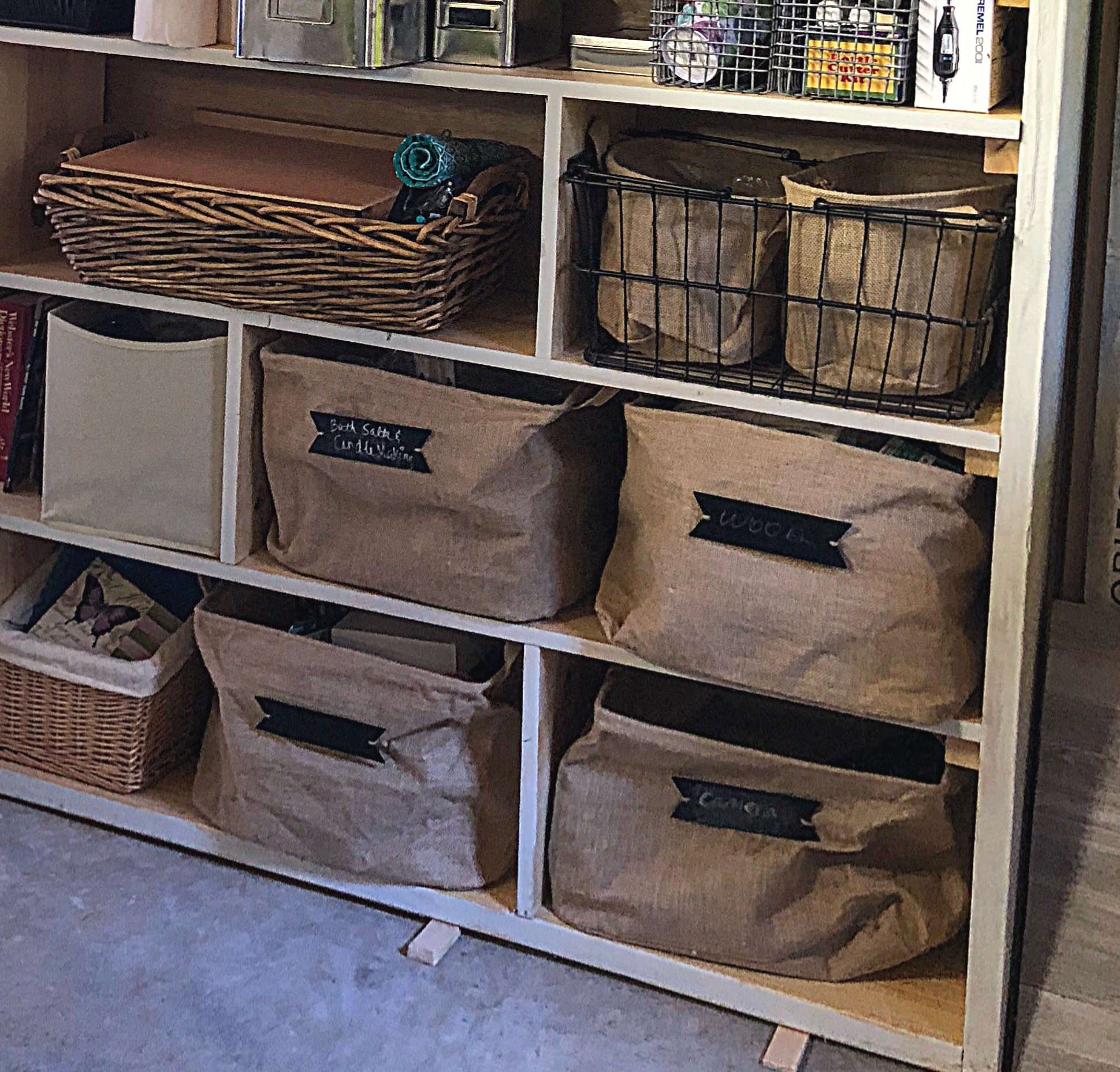 Burlap storage containers