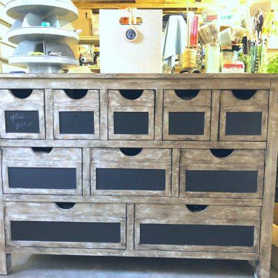 Craft supply dresser