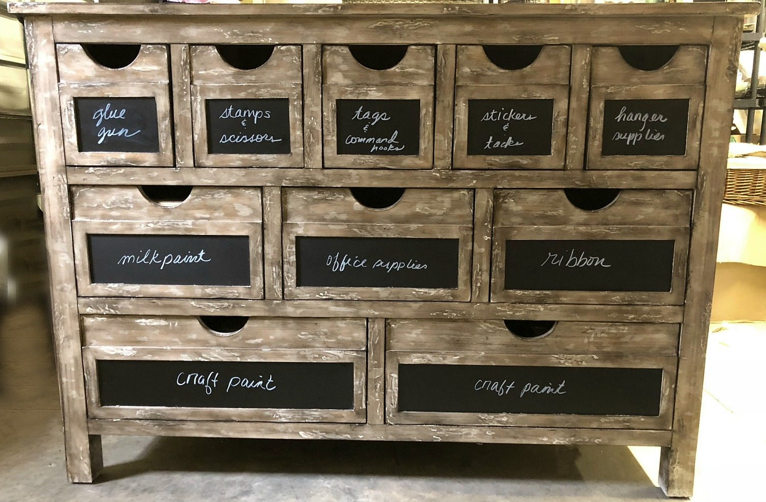 Storage drawers for craft supplies