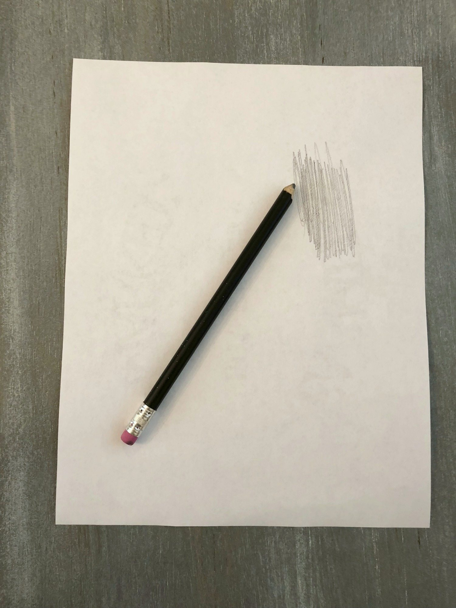 Use a pencil to shade the back