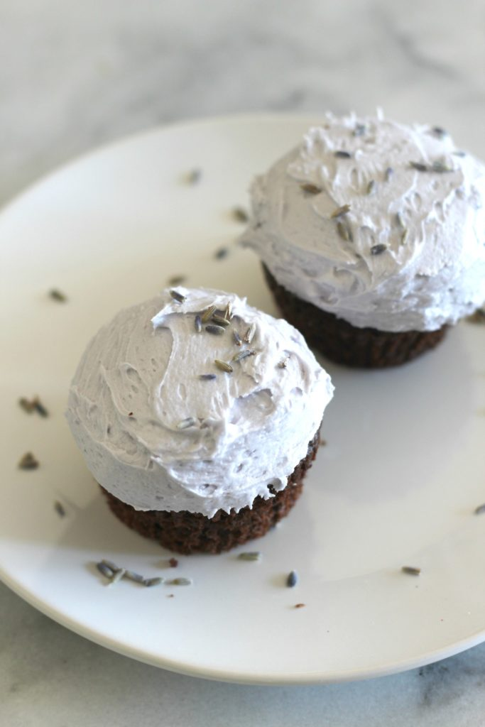 Chocolate-buttermilk-cupcakes-lavender-frosting