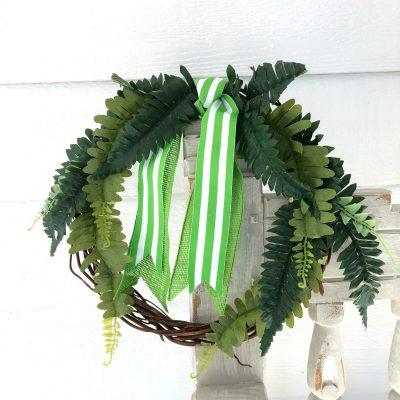How To Make a Faux Fern Wreath