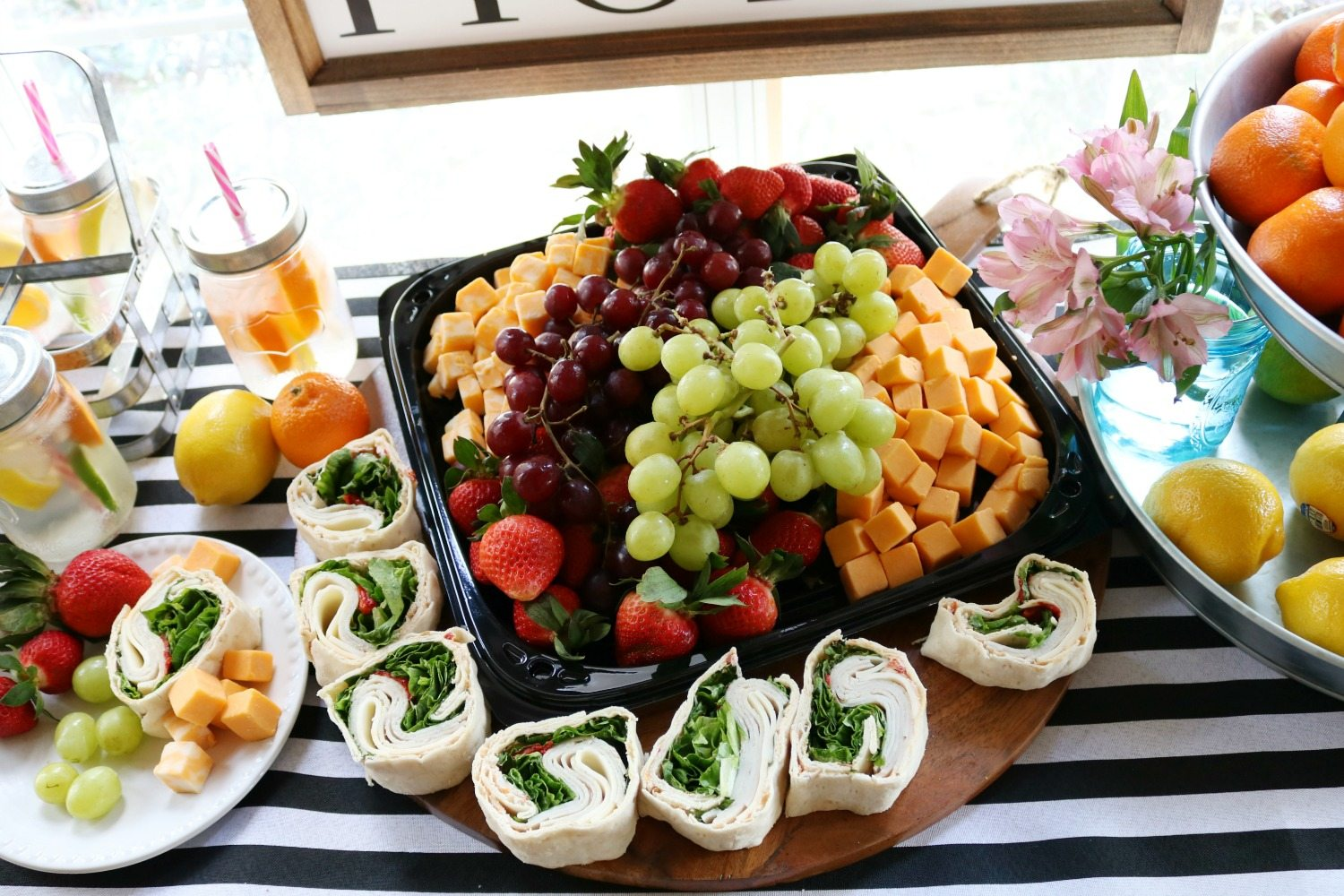 Fruit and spiral sandwiches perfect party food