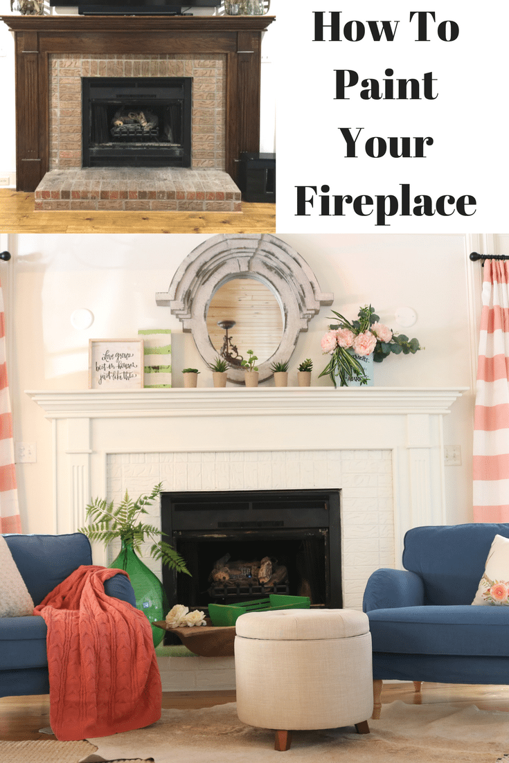 How to paint your fireplace brick mantel refresh restyle check out these other ideas for painting fireplaceschanging solutioingenieria Image collections