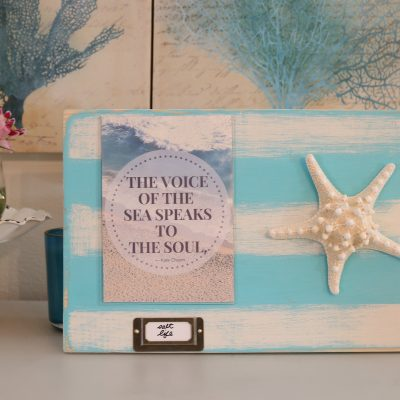 Make this cute photo display instructions included