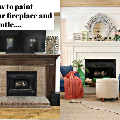 How to Paint Your Fireplace Brick & Mantel