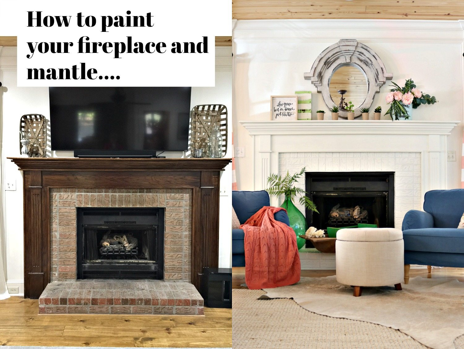 How To Paint Your Fireplace Brick Mantel