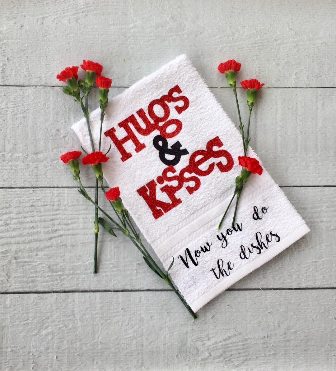 Perfect gift idea Hugs & Kisses Towel