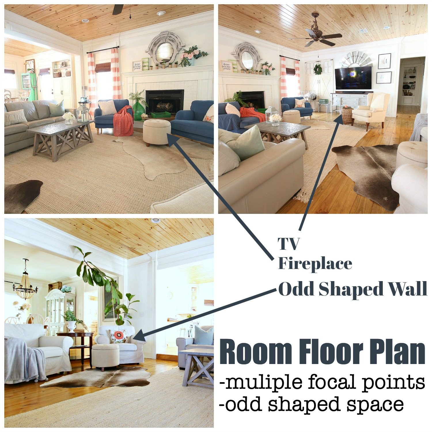 Room floor plan for odd shaped space