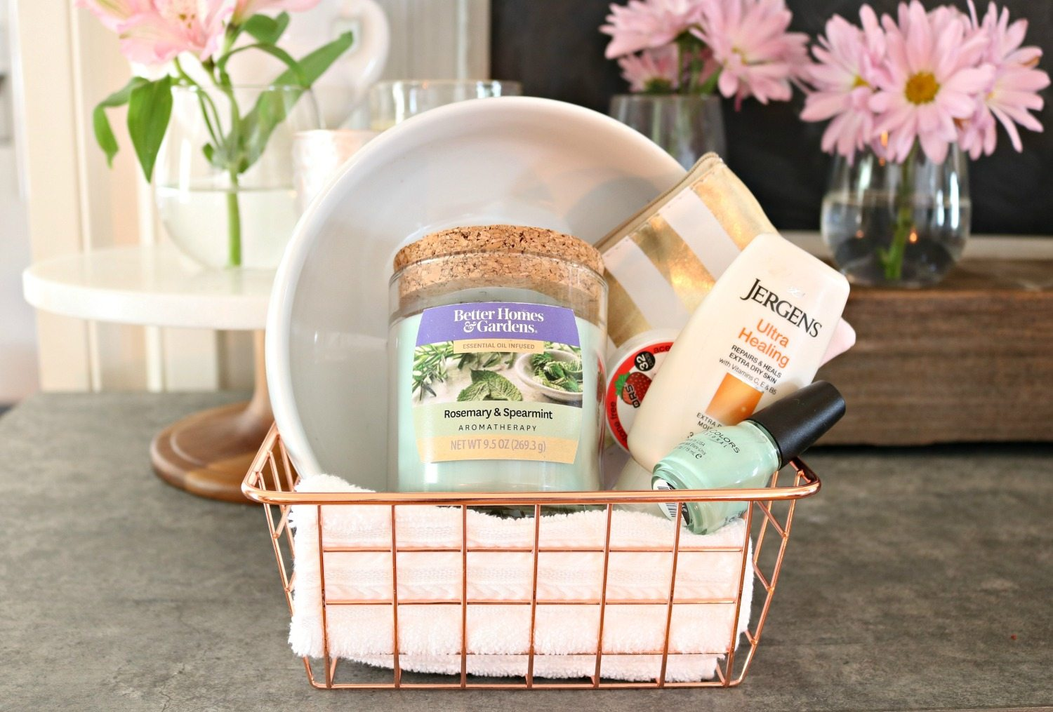 Spa basket perfect for friends night in