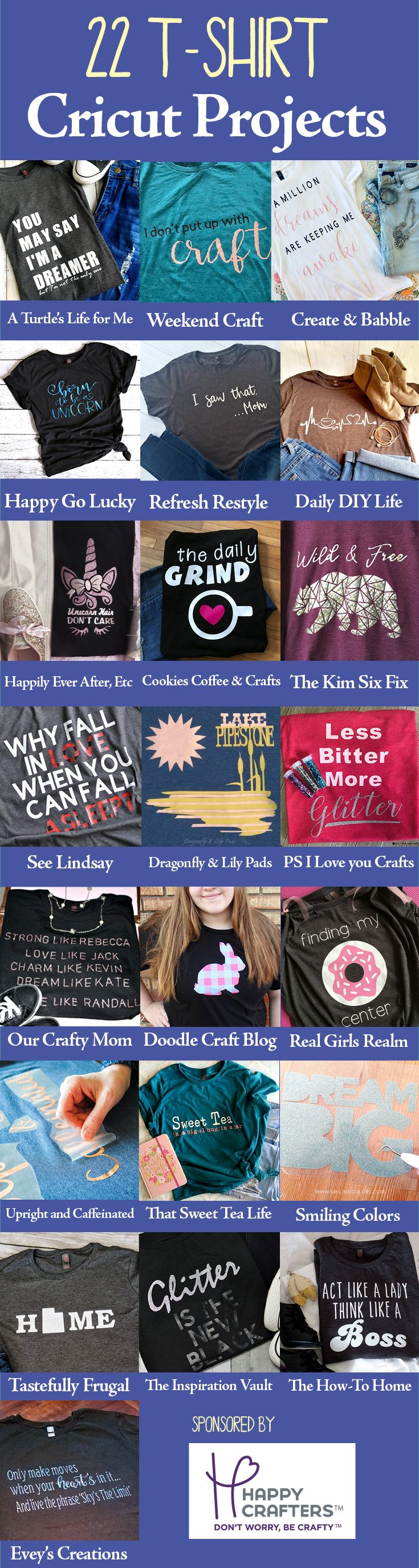 Cricut 22 ideas for fun t-shirts